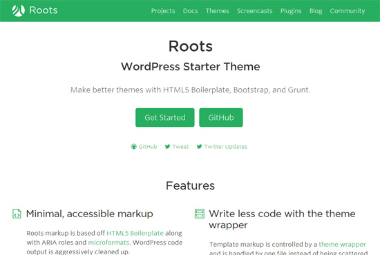 Blank HTML5 WordPress Themes de inceput