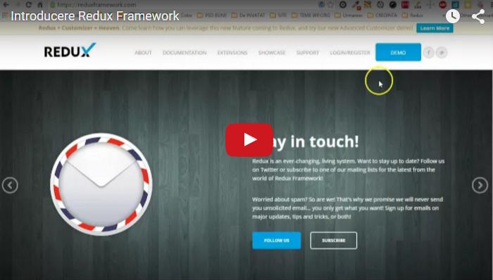 Introducere Redux Framework