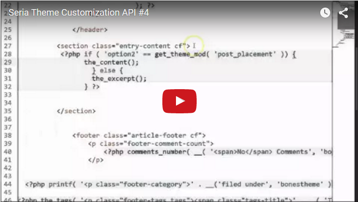 Seria Theme Customization API #4
