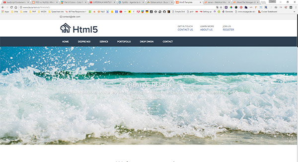 Html5 template free