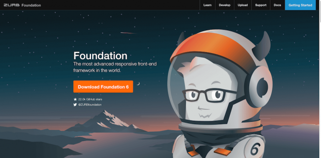 Foundation The most advanced responsive front end framework in the world. 1