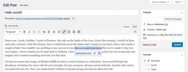 wordpress 4 8 link boundaries