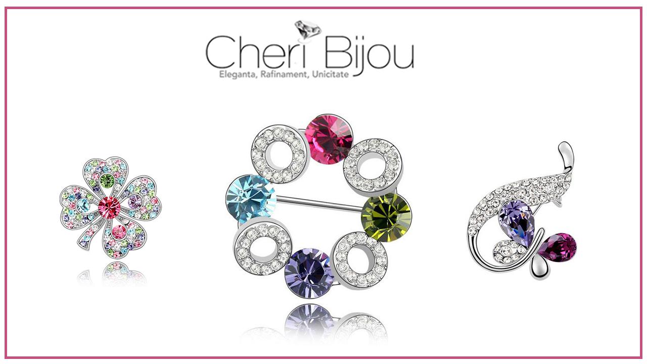 Brose cu cristale Swarovski – eleganta si stil de la Cheri Bijou