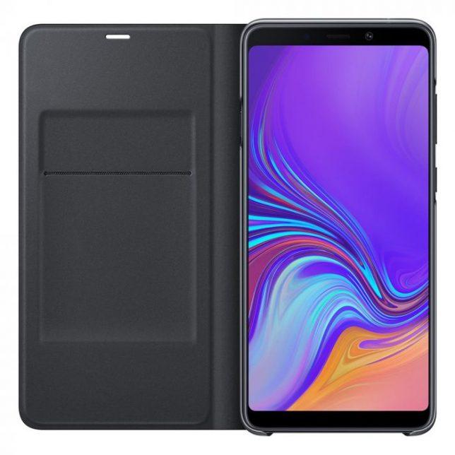15187 31797 Samsung Husa Book Wallet Cover Samsung Galaxy A9 2018 Black 4.jpg