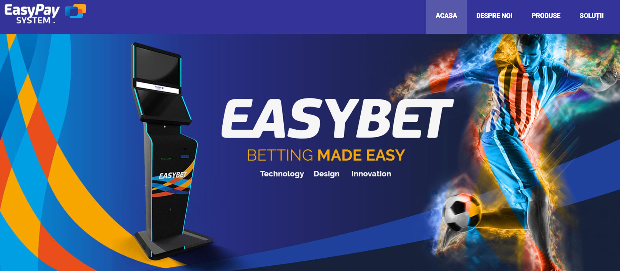Terminale pariuri sportive de la EasyPay System!