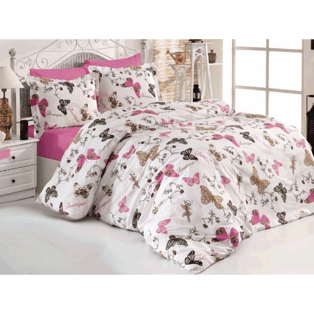 Lenjerii de pat cu fluturi- model inedit intr-o combinatie de culori