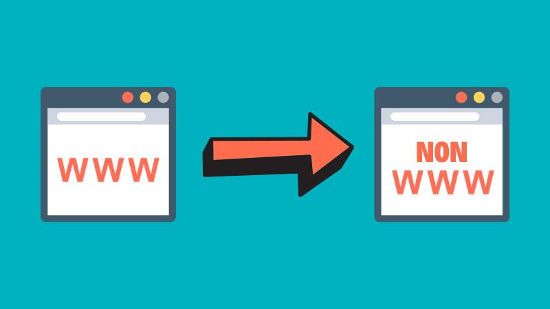Redirect www URL catre non-www