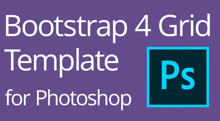 Bootstrap 4 Responsive Grid Photoshop Templates (PSD)