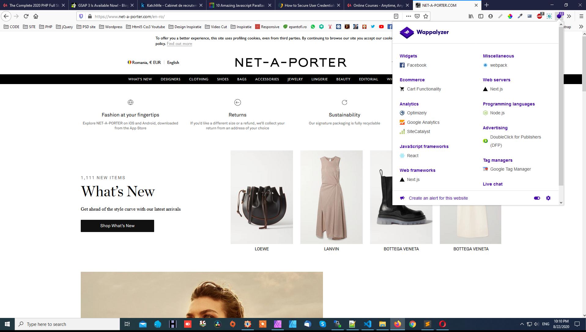 Wappalyzer, extensia care indentifica ce tehnologii foloseste un site