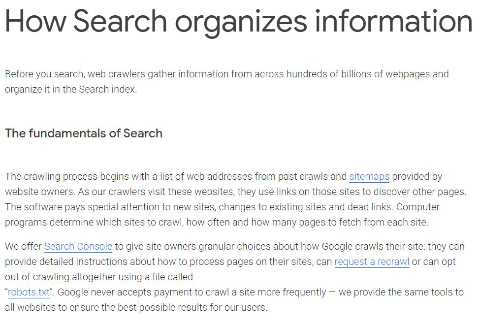 Index site
