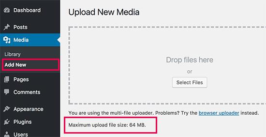 Creșteți dimensiunea maximă de încărcare a fișierelor în WordPress